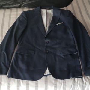 Navy Zara Suit